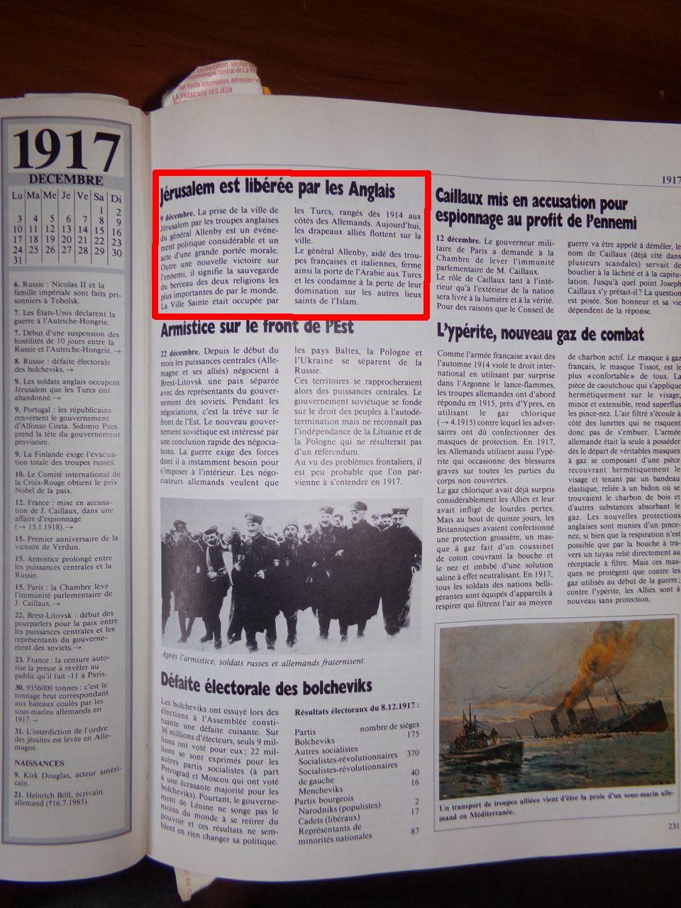 Un peu d'Histoire ...  L'origine de la création de l'état d'israël, 1947 ou 19° siècle ?  Chroniquedu20esiecle-05
