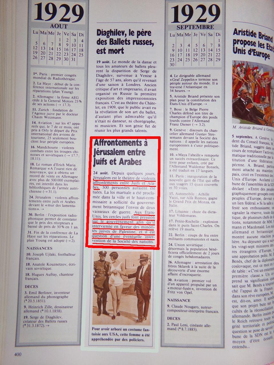 Un peu d'Histoire ...  L'origine de la création de l'état d'israël, 1947 ou 19° siècle ?  Chroniquedu20esiecle-12