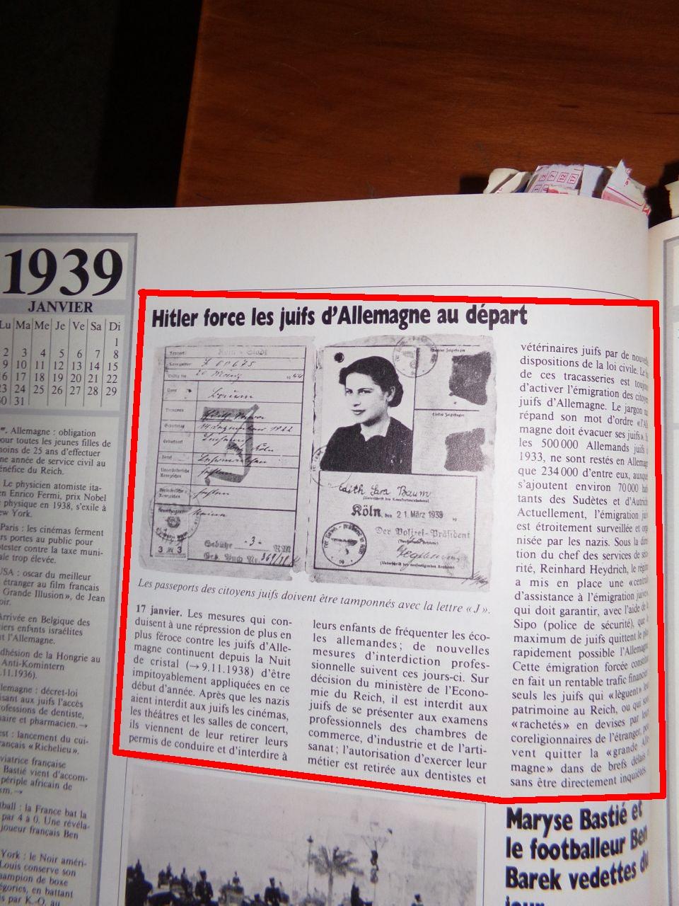 Un peu d'Histoire ...  L'origine de la création de l'état d'israël, 1947 ou 19° siècle ?  Chroniquedu20esiecle-18