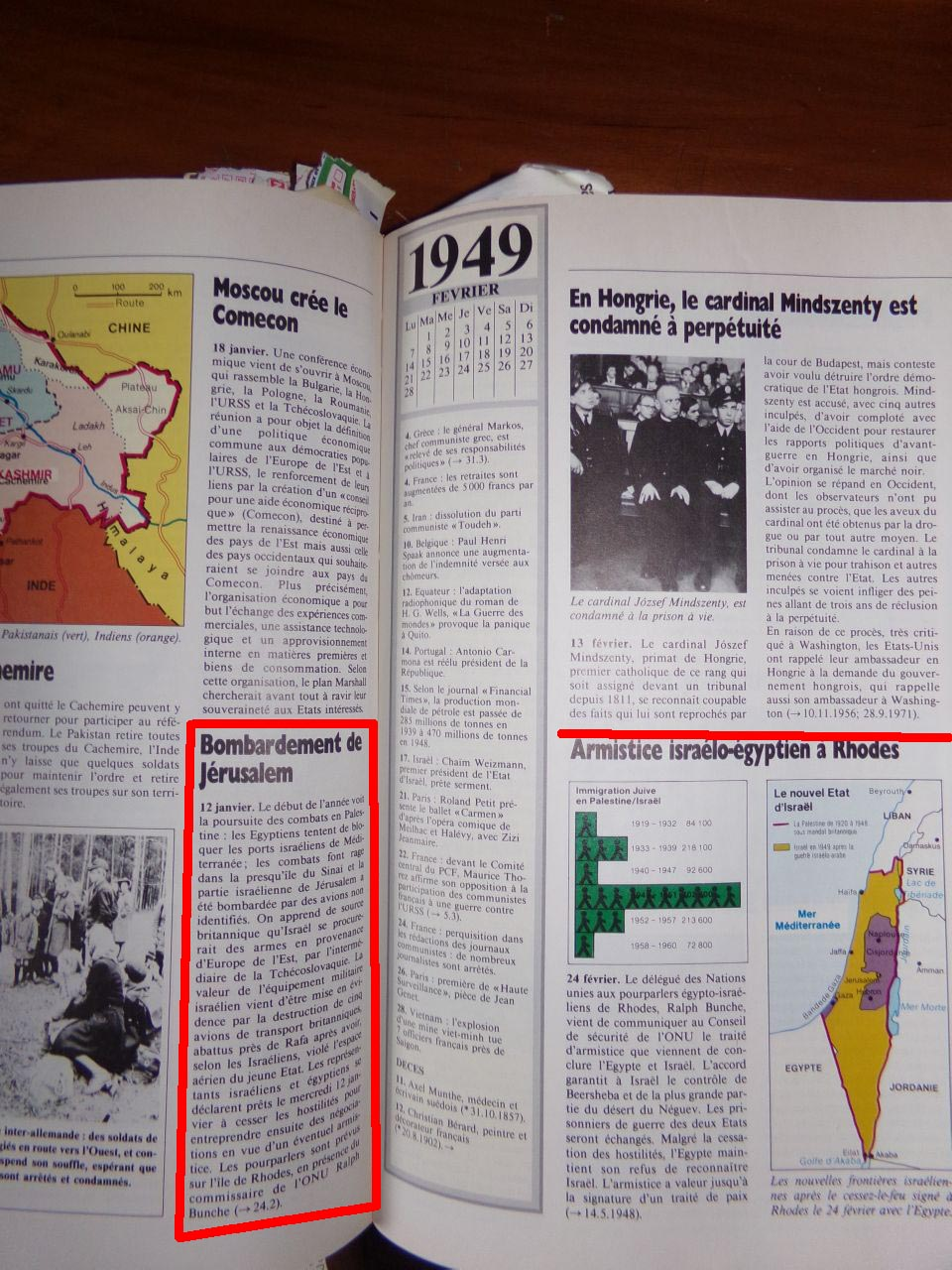 Un peu d'Histoire ...  L'origine de la création de l'état d'israël, 1947 ou 19° siècle ?  Chroniquedu20esiecle-24